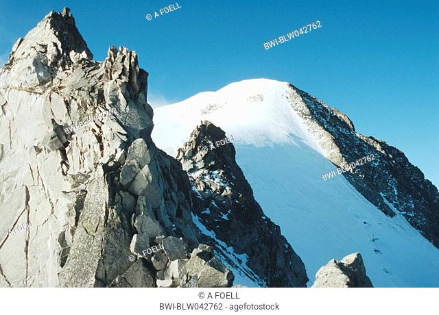 mountain top of Piz Morteratsch, Switzerland, Oberengadin