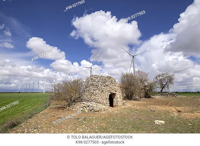 Parque eólico Cuesta Colorada, Tébar, Atalaya Cañavete, Spain