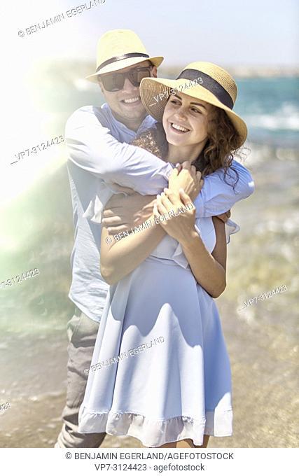 couple at beach, love