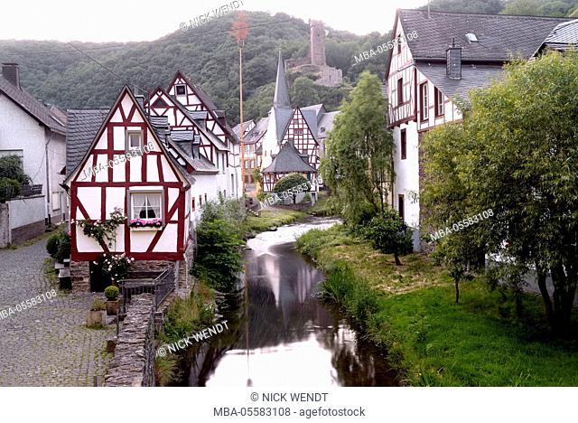 old half-timbered houses in Monreal at the Eifel