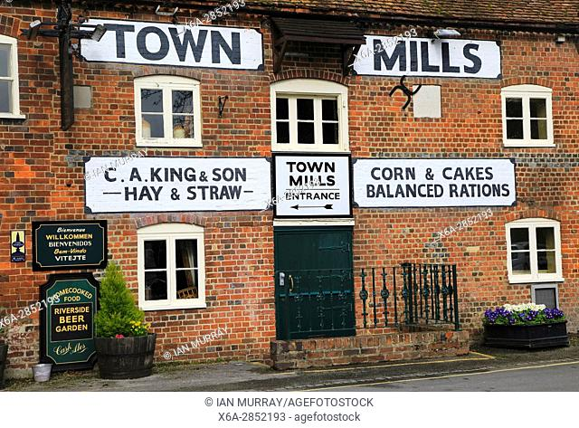 Town Mills former grain mill pub, Andover, Hampshire, England, UK