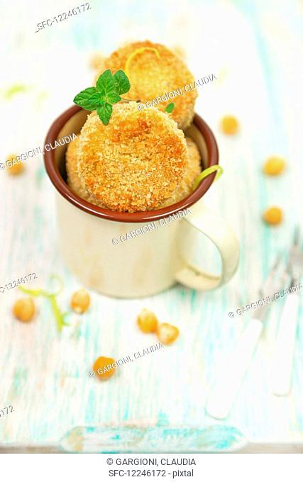 Chickpeas and lemon meatballs