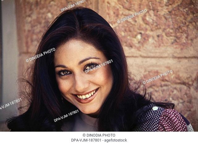 1985 Portrait of Indian film actress Tina Munim and wife of Anil Ambani