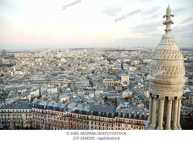 View on the roofs of Paris from the Sacré-Coeur church