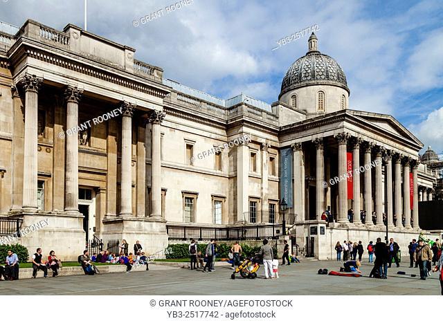 The National Gallery, Trafalgar Square, London, England