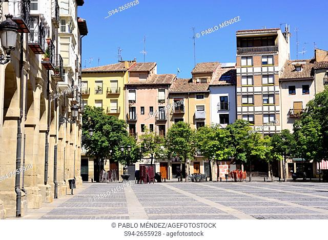 Cathedral's square of Logroño, Spain