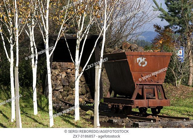 Wagon, remembrance of the mines Zerain Ordizia Guipúzcoa Province. Vasque Country. Spain