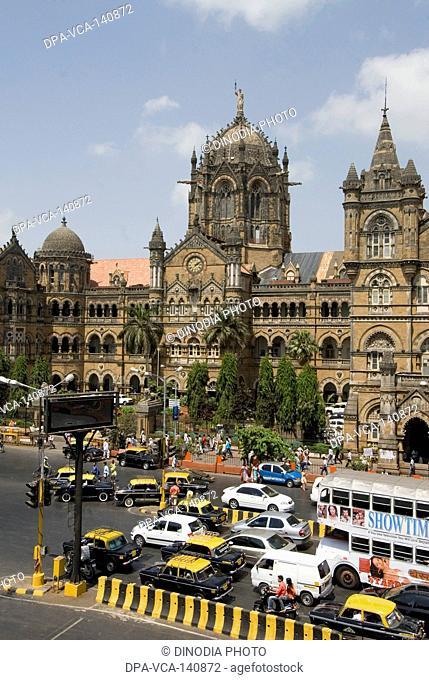 CST Chhatrapati Shivaji Terminus ; Bombay now Mumbai ; Maharashtra ; India