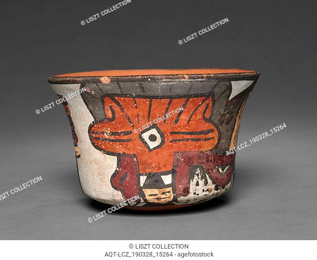 Bowl, 100 BC-AD 700. Peru, South Coast, Nasca, Florescent. Earthenware; overall: 8.7 x 13.3 cm (3 7/16 x 5 1/4 in.)