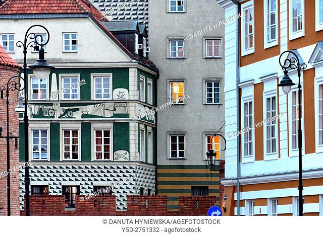 Old Town, Nowomiejska street, Warsaw, UNESCO World Heritage, Poland, Europe