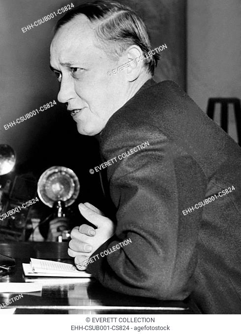 Harry Hopkins testified to the Senate Commerce Committee on Jan. 11, 1939. FDR's nominee for Sec. of Commerce, defended his administration of relief work during...