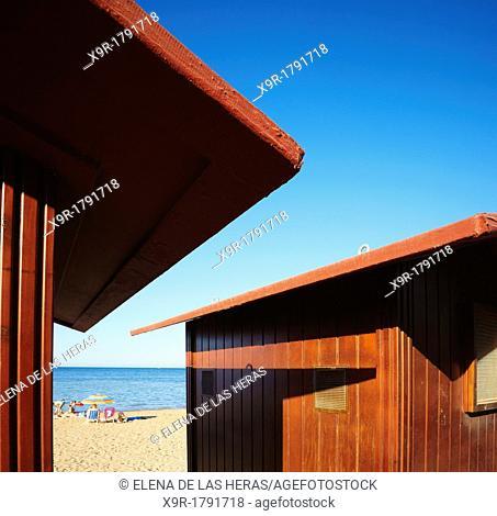 Beach huts, Denia, Alicante, Spain