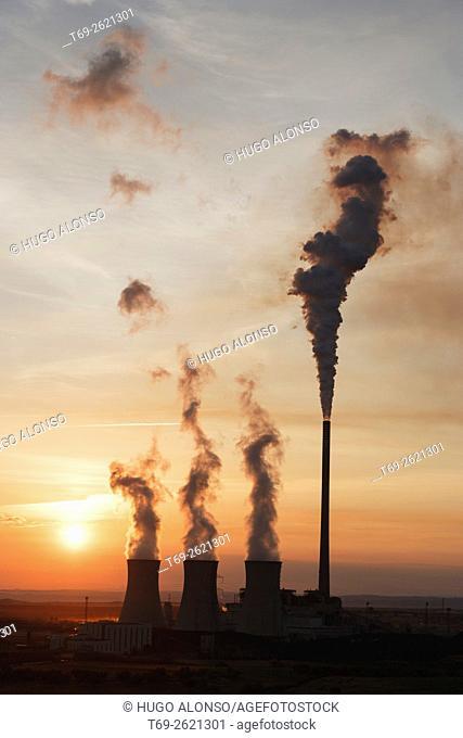 Andorra thermal power station, Teruel province, Aragon, Spain