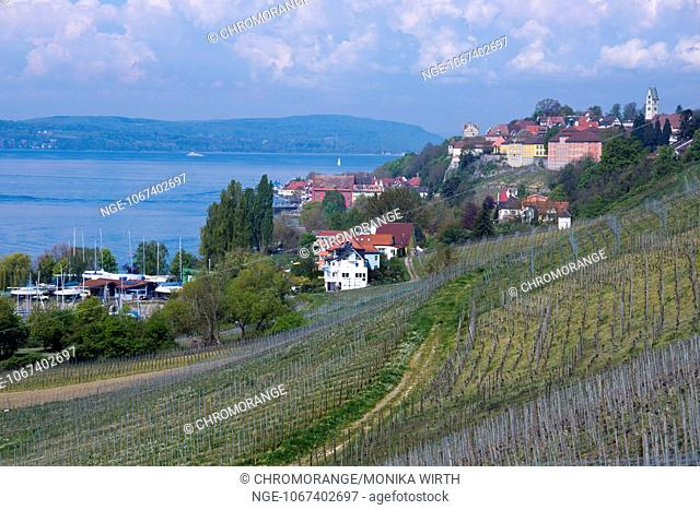 Cityscape view Meersburg, Lake Constance, Baden-Wuerttemberg, Germany, Europe