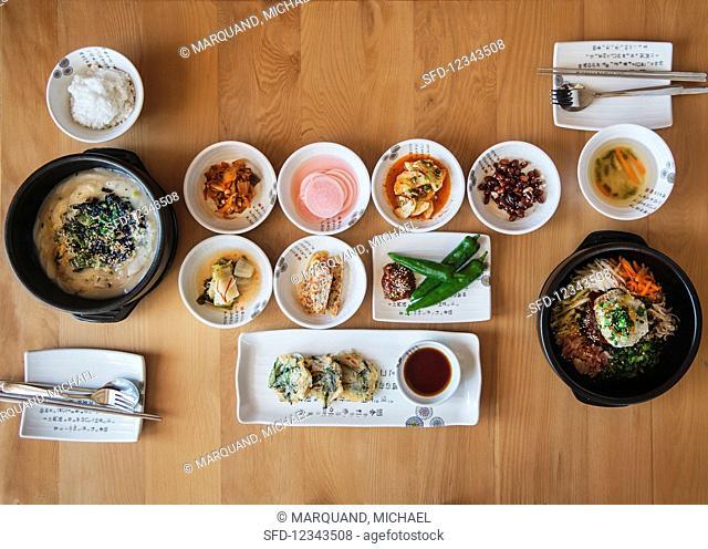 Various Korean dishes