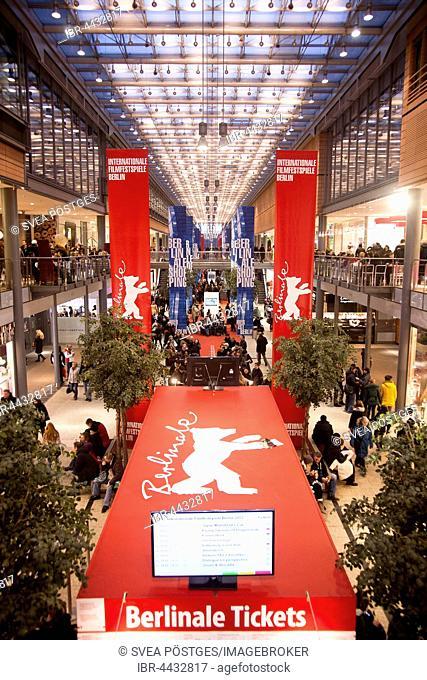 Ticket sales for Berlinale, Berlin International Film Festival, Potsdamer Platz Arcades, Berlin, Germany