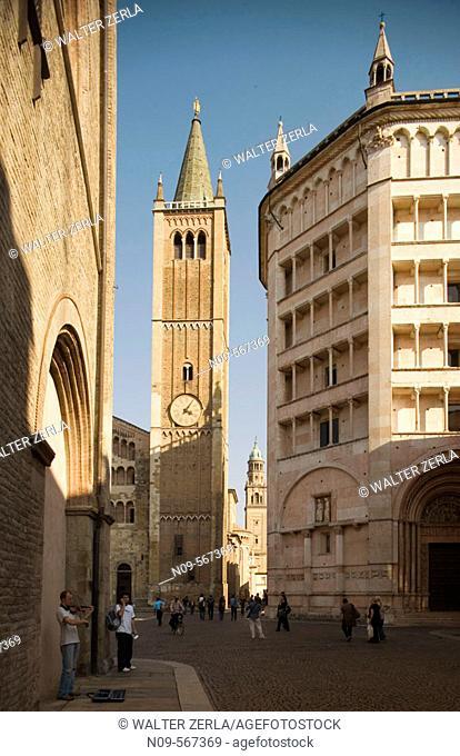 Piazza Duomo. Parma. Emilia Romagna. Italy