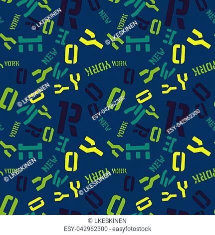 New York creative pattern. Digital design for print, fabric, fashion or presentation
