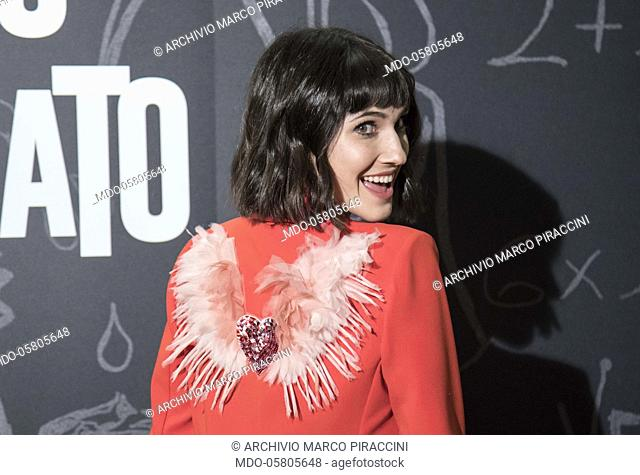 The italian singer Lodovica Comello at the photocall of the film Tonno Spiaggiato, directed by Matteo Martinez, eith Frank Matano at the Cinema Anteo