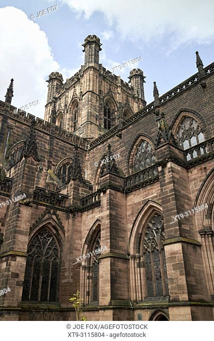 cathedral church of christ and the blessed virgin mary chester cathedral chester cheshire england uk