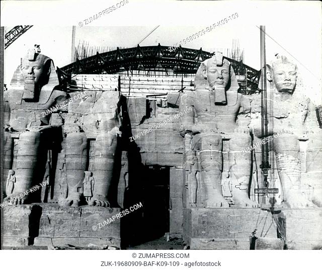 Sep. 09, 1968 - Inaugeration Of New Site For Abu Simberl Temples: The giant temples of Pharoach Ramses II, were yesterday inaugratioted at their noiew site at...