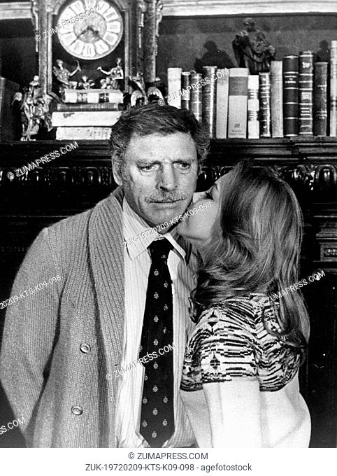 May 2, 1974 - Rome, Italy - Actor BURT LANCASTER plays a teacher, while co-star actress, CLAUDIA MARSANI plays a young girl in love with him, in the film