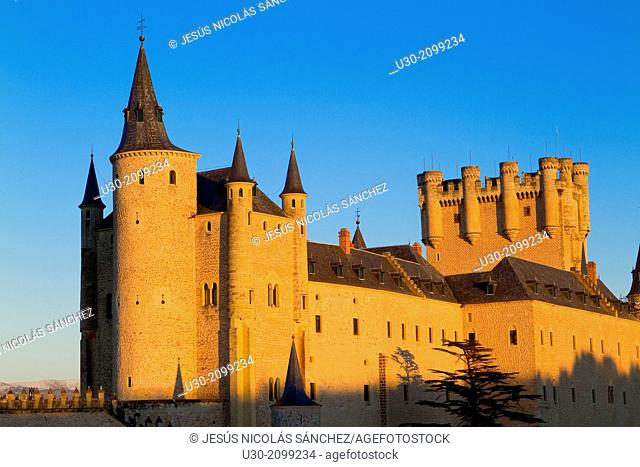 Alcazar fortress in Segovia, city declarated Historical-Artistic Site, and World Heritage by UNESCO