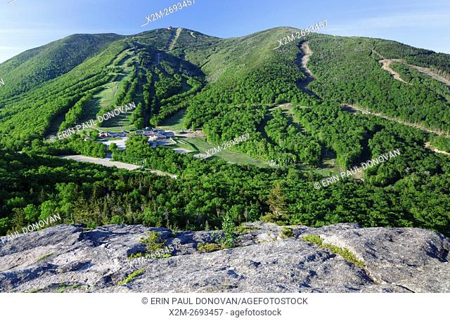 Cannon Mountain from Bald Mountain in the White Mountains of New Hampshire USA during the spring months