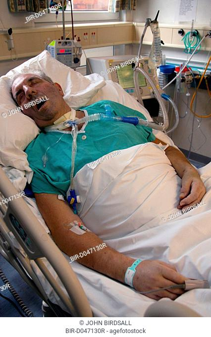 Patient who has undergone a Tracheostomy on the High Dependency Unit