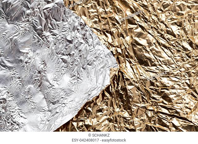 gold and silver foil as a background