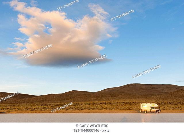 Camper van on road