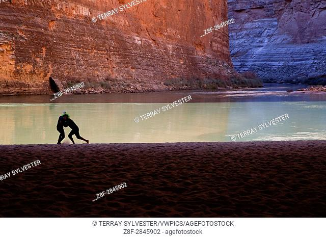 Rafters play in Grand Canyon National Park, Arizona, United States