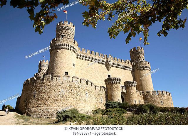 Castillo de los Mendoza, Manzanares el Real, Comunidad de Madrid. Spain