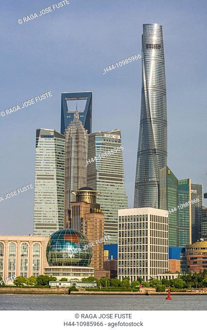 World Financial Center and Shanghai Tower in Shanghai