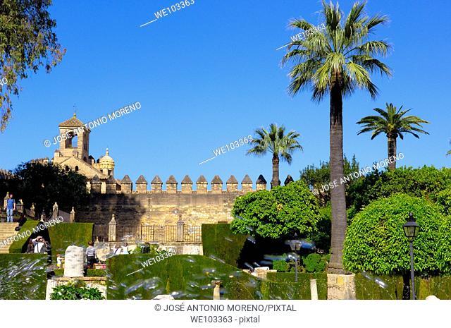 Gardens of the Alcazar de los Reyes Cristianos (Alcazar of the Christian Monarchs), Cordoba, Andalusia, Spain