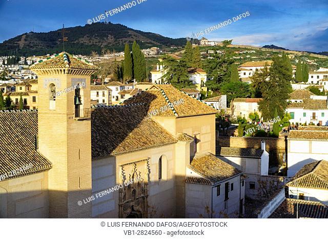 Santa Isabel la Real Monastery in the Unesco listed Albaicin quarter of Granada, Andalusia, Spain