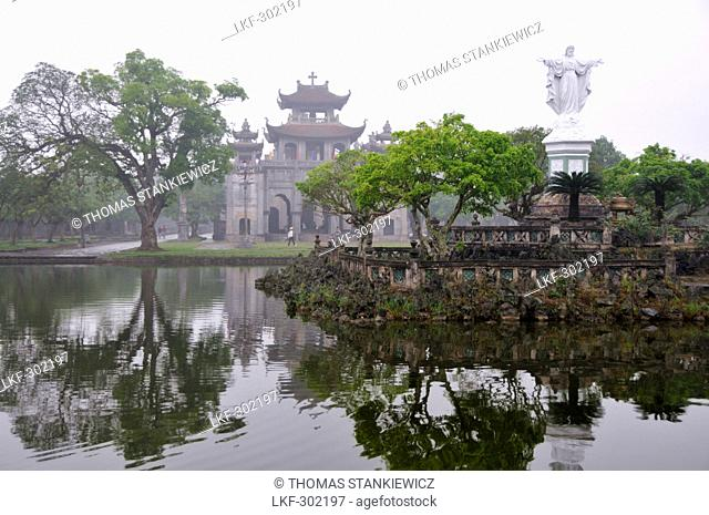 Cathedral of Phat Diem in Halong bay near Ninh Binh, north Vietnam, Vietnam