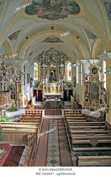 Pilgrimage Church of Our Lady in Schnals, Schnals Village, Schnalstal Valley, Vinschgau Valley, Alto Adige, Italy, Europe