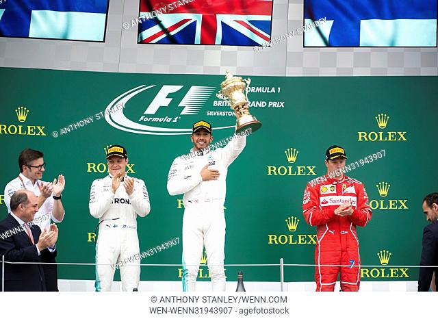 Formula One British Grand Prix at Silverstone Circuit in Silverstone, Northamptonshire. Featuring: Valtteri Bottas, Lewis Hamilton