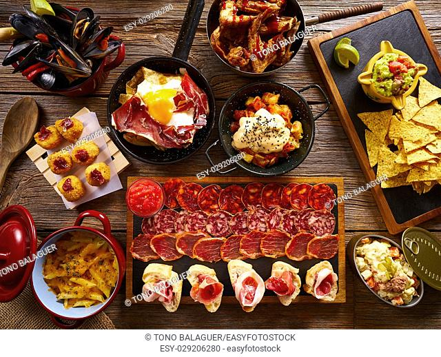 Tapas from Spain varied mix of Mediterranean food recipes