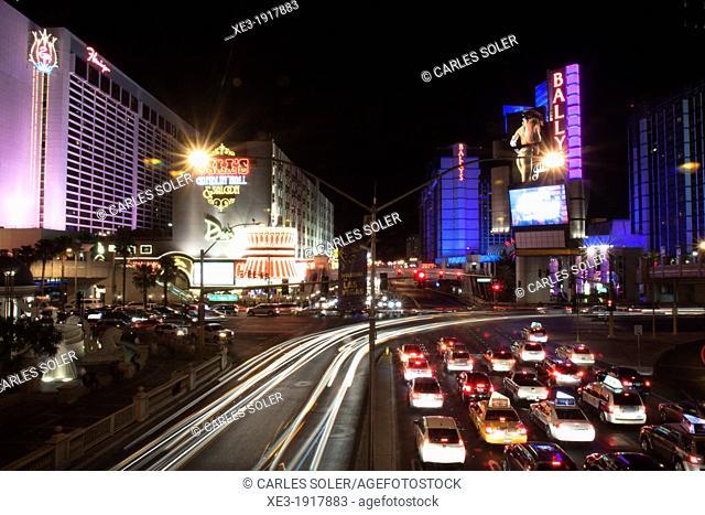 Night traffic in Las Vegas