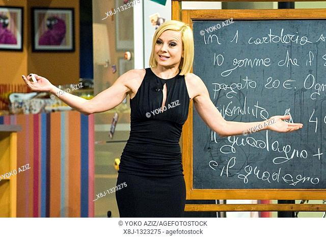 Kalispera telecast Canale 5 Mediaset, 26 01 2011, Milan, Italy  Antonella Elia