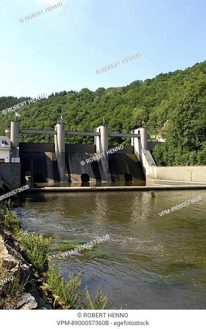 BELGIUMARDENNEDAM & NISRAMONTLAKEUPPER OURTHE RIVER VALLEY - ORTHOTo the east of Ortho near Nisramont the river Ourthe is dammed to form a reservoir : the...