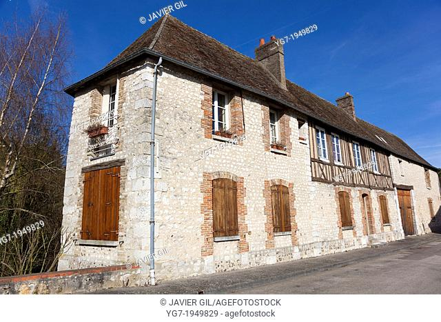 Architecture of Les Andelys, Haute Normandie, France