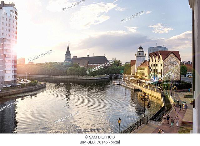 Kaliningrad cityscape and waterfront, Kaliningrad, Russia
