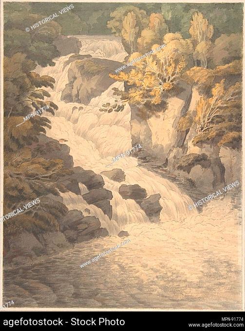 Cascade of the Aray at Inveraray (Scotland). Artist: John White Abbott (British, Exeter 1764-1851 Exeter); Date: June 30