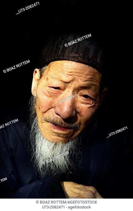 Portrait of a Chinese Hui Muslim man
