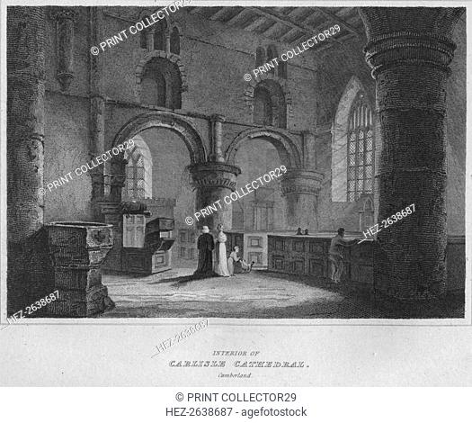 'Interior of Carlisle Cathedral. Cumberland', 1814. Artist: John Greig