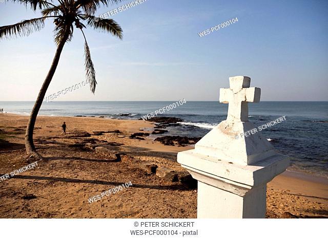 India, Goa, Anjuna, view to Anjuna Beach