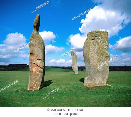 Pre-historic standing stones. Fife. Scotland